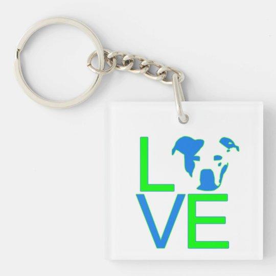 Pit Bull Love Keychain