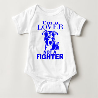 PIT BULL LOVER NOT A FIGHTER T SHIRTS