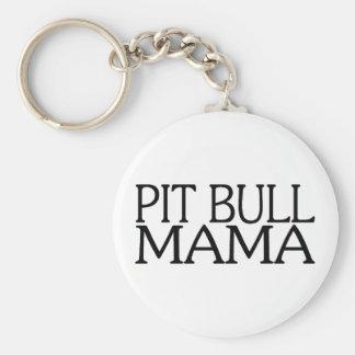 Pit Bull Mama Key Ring