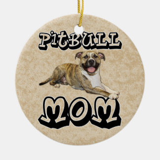 Pit Bull MOM - Tigger Christmas Ornament