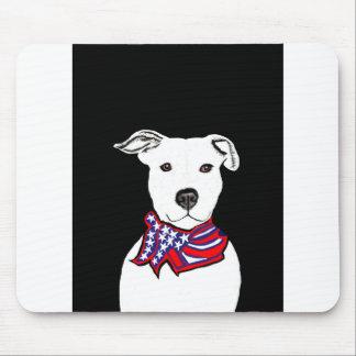 Pit Bull mouse pad American flag bandana