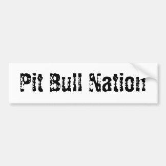 Pit Bull Nation Bumper Sticker