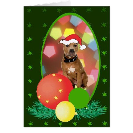 Pit Bull Ornaments Card