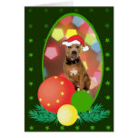 Pit Bull Ornaments Greeting Cards