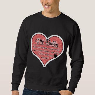Pit Bull Paw Prints Dog Humor Sweatshirt