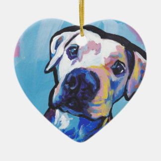 pit bull pitbull fun pop art christmas ornament