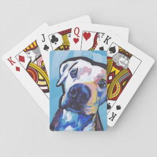 pit bull pitbull fun pop art playing cards