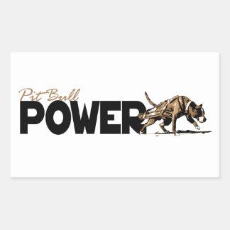 Pit Bull Power! Rectangular Sticker