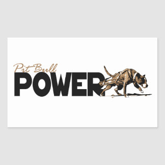 Pit Bull Power Stickers