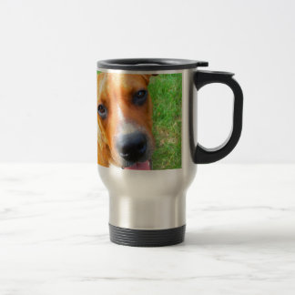 Pit Bull Puppy Close-up Stainless Steel Travel Mug
