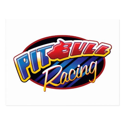 Pit Bull Racing Post Card