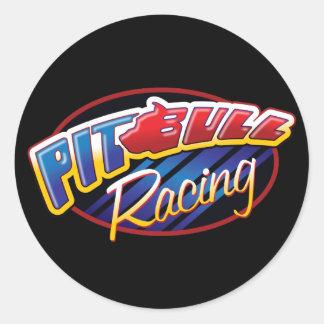 Pit Bull Racing Round Sticker