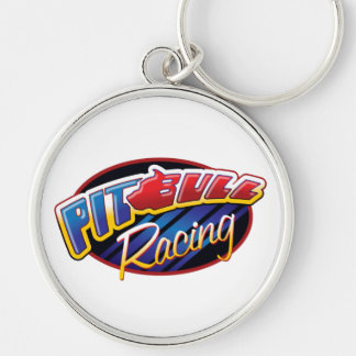 Pit Bull Racing Silver-Colored Round Key Ring