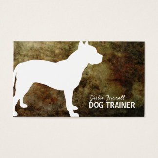 Pit Bull Staffy Pet Realated Business Card