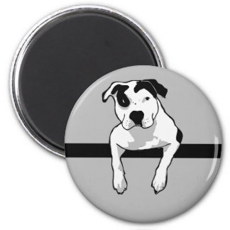 Pit Bull T-Bone Graphic 6 Cm Round Magnet