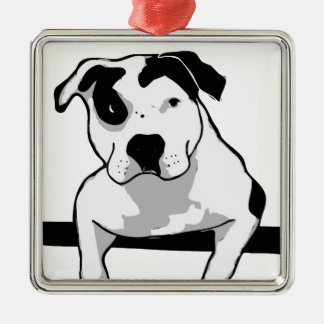Pit Bull T-Bone Graphic Christmas Ornament