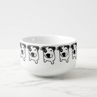 Pit Bull T-Bone Graphic Soup Mug