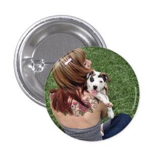 Pit Bull T-Bone Lucky Puppy 3 Cm Round Badge