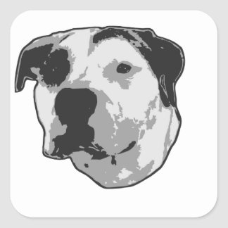 Pit Bull T-Bone Square Sticker