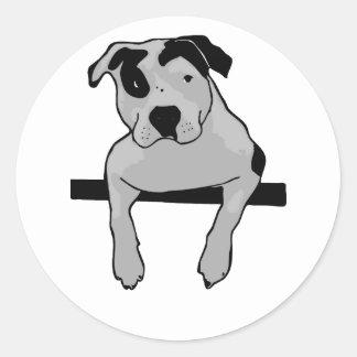 Pit Bull T-Bone Round Stickers