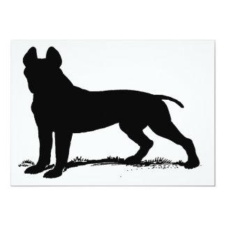 pit bull terrier 13 cm x 18 cm invitation card