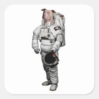 Pit Bull Terrier Astronaut Sticker