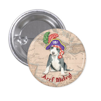 Pit Bull Terrier Pirate 3 Cm Round Badge