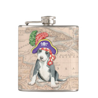 Pit Bull Terrier Pirate Hip Flask