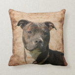 Pit Bull Terrier Throw Pillows