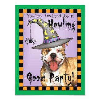 Pit Bull Witch 11 Cm X 14 Cm Invitation Card