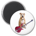 Pit Bull with Guitar Magnet