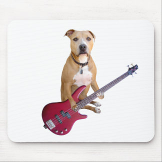 Pit Bull with Guitar Mouse Pad