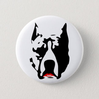 Pit Bull with Lipstick 6 Cm Round Badge