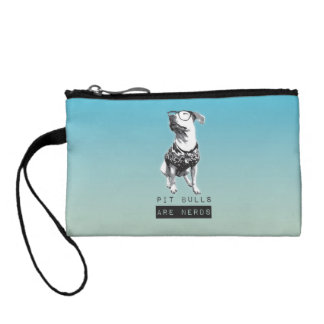 Pit Bulls are Nerds Tiny Coin Clutch Coin Wallet