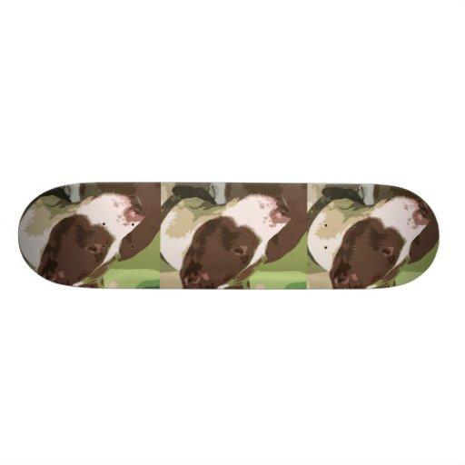 Pit Bulls Rock Skate Board