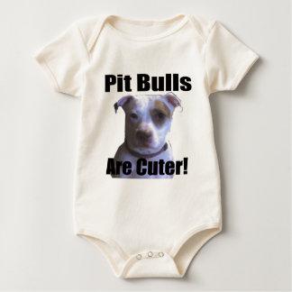 pit buls are cuter bodysuit