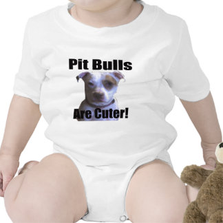 pit buls are cuter rompers