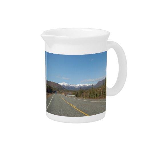 Pit Cher highway in Alaska Drink Pitcher