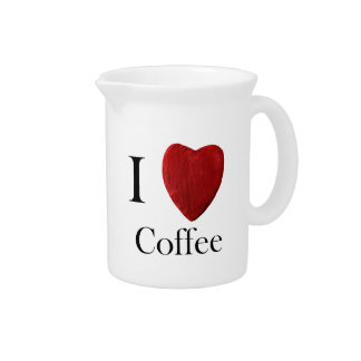 Pit Cher I love Coffee Drink Pitchers