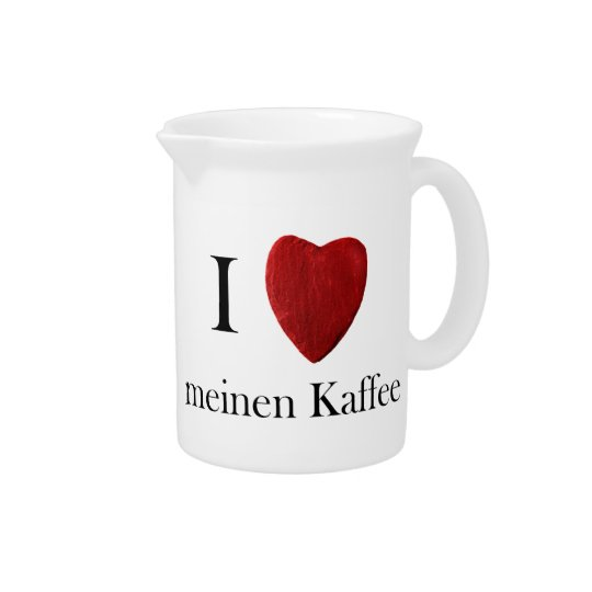 Pit Cher I loves means coffee Pitcher