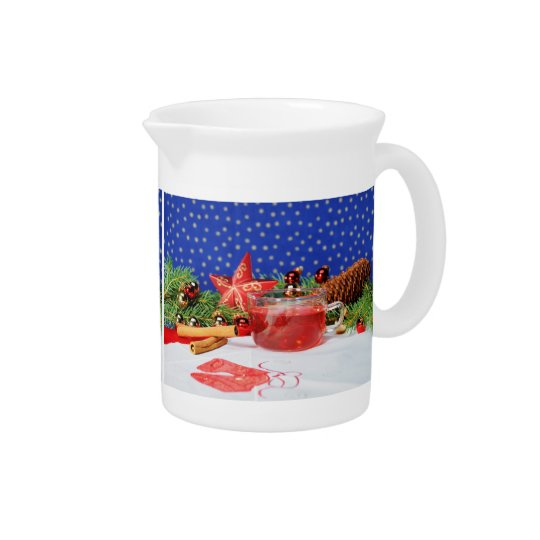 Pit Cher with motive for Christmas Beverage Pitchers