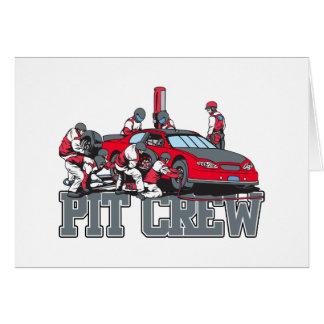 Pit Crew Greeting Card
