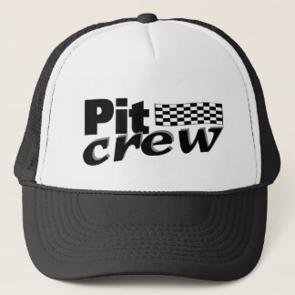Pit Crew (Racing Flag) Trucker Hat