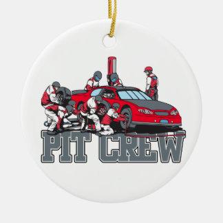 Pit Crew Round Ceramic Decoration
