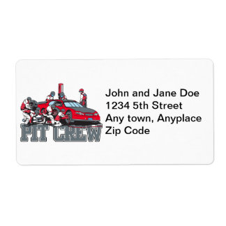 Pit Crew Shipping Label