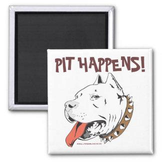 Pit Happens Funny Pit Bull Terrier Magnet