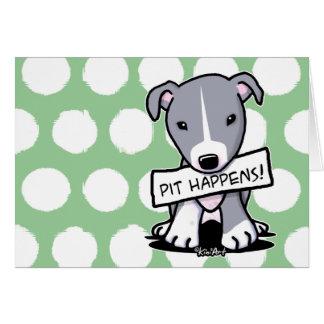 Pit Happens Pitbull Dog Note Card