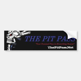 Pit Pass Bumper Sticker