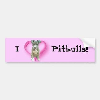 Pitbul puppy bumper sticker