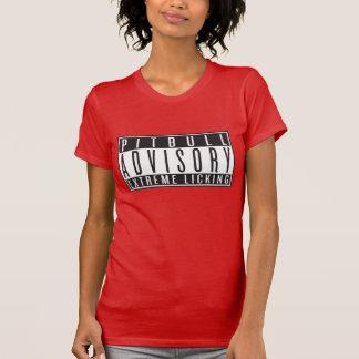 Pitbull Advisory, Black on color T-Shirt